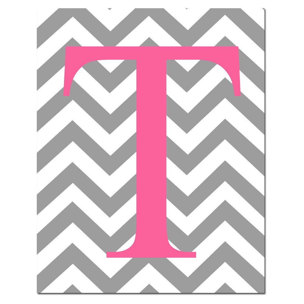 Cute Wallpapers First Initial Letter A Chevron Monogram Initial Letter Nursery Art 8x10 Print