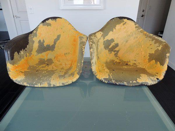 Eames Fiberglass Chair Restore Herman Miller Refinish