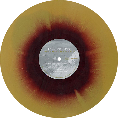 From Under The Cork Tree Album By Fall Out Boy Hot Topic Exclusive Gold W X2f Maroon Swirl Vinyl Limited To 2 000 Copies Co Vinyl Vinyl Records Cork Tree