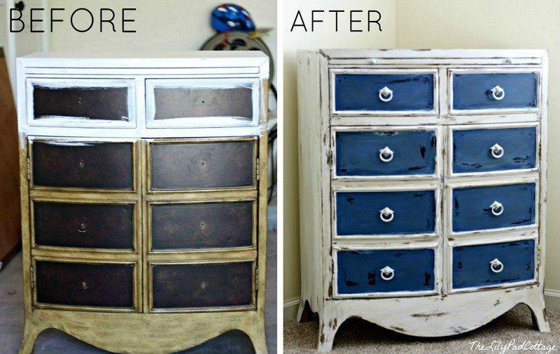 Relooker un meuble ancien avec de la peinture- idées supers - Moderniser Un Meuble Ancien