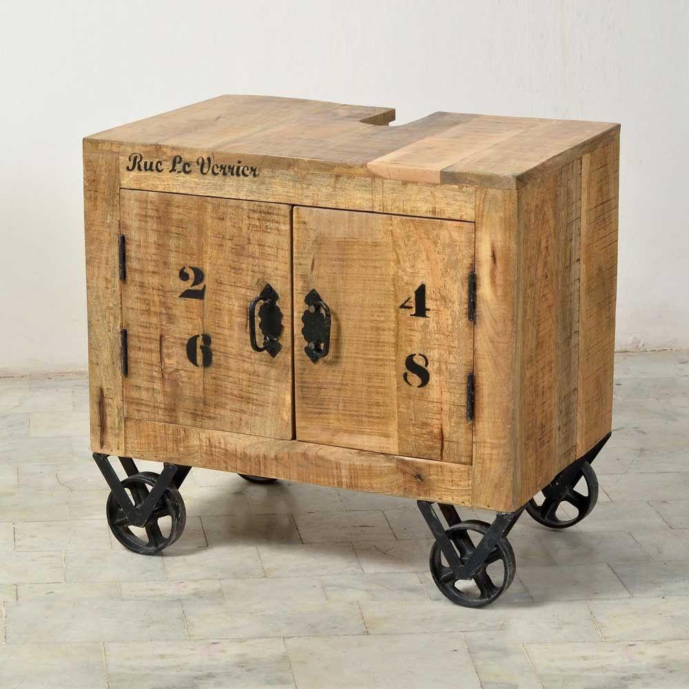 Pin Von Bubble Bourke Auf Vintage Et Upcycling Badezimmer Unterschrank Holz Waschbeckenschrank Unterschrank