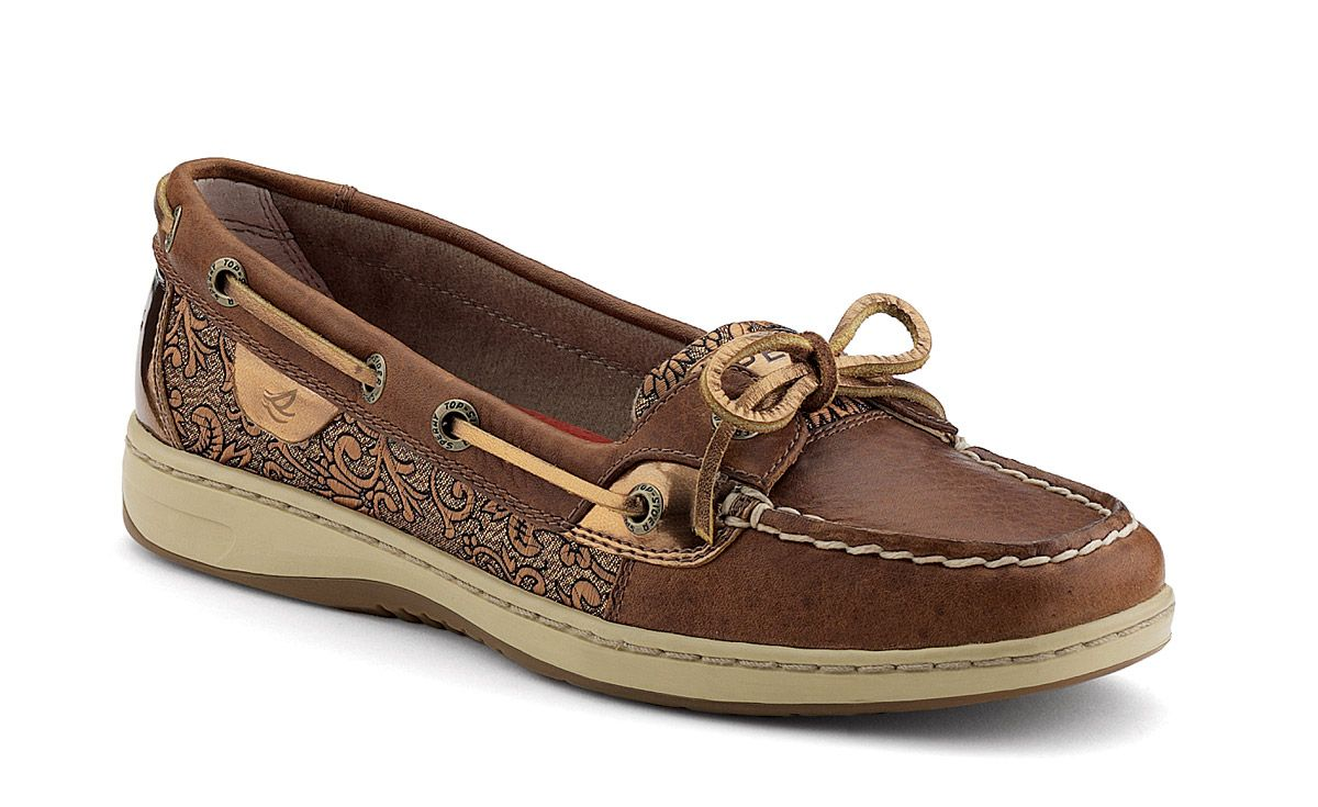 Order Women's Angelfish Slip-On Leather Boat Shoes | Sperry Top-Sider | Dark