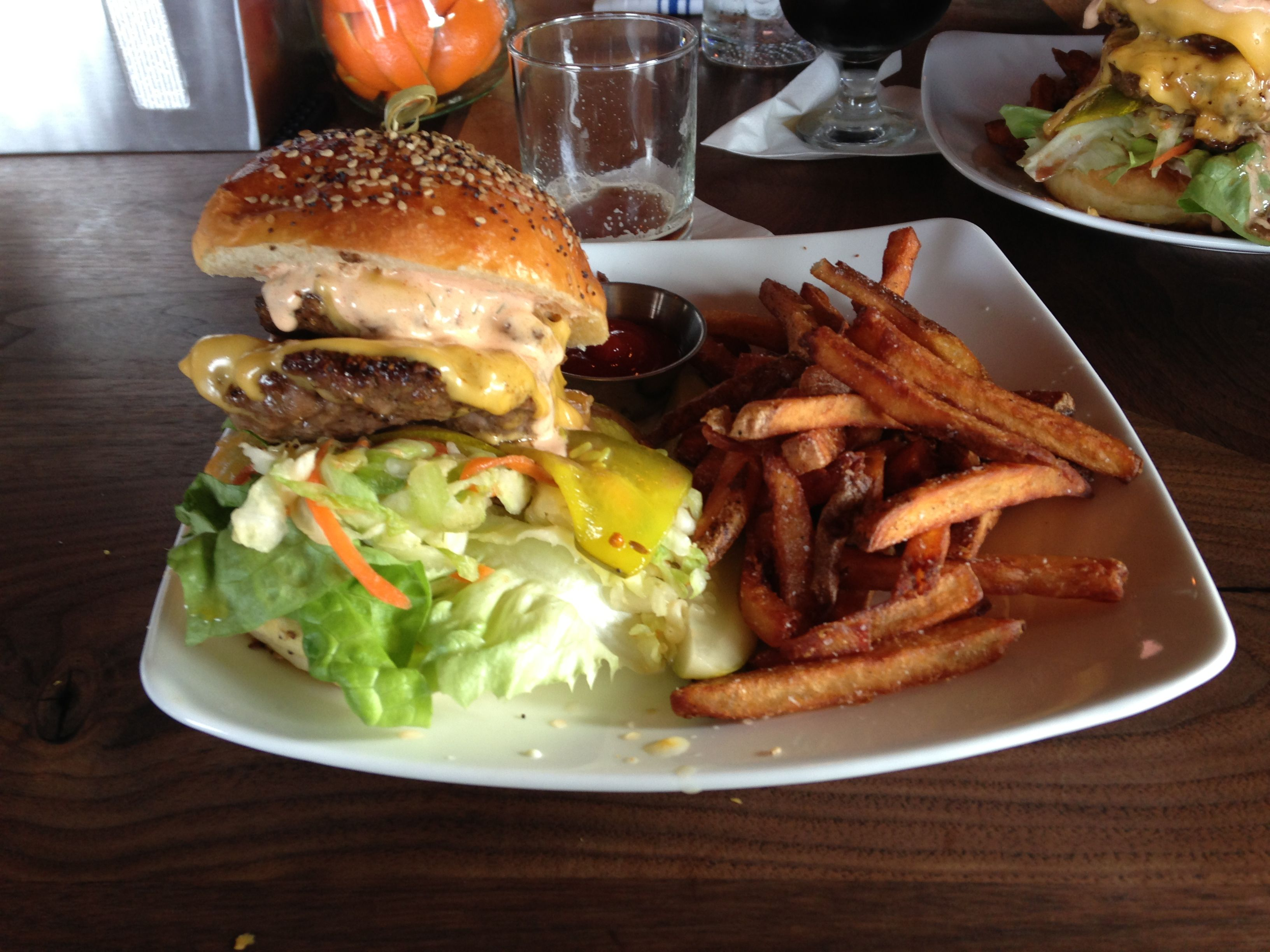 Big Stack Burger at the Engine Room in Mystic CT