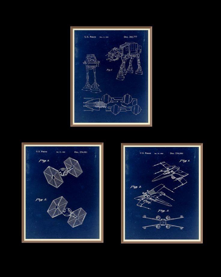 3 star wars patent prints 1980 1982 set on a vintage blue paper 3 star wars patent prints 1980 1982 set on a vintage blue paper background instant download vintage blueprint downloadable art by rarevintagepa malvernweather Images
