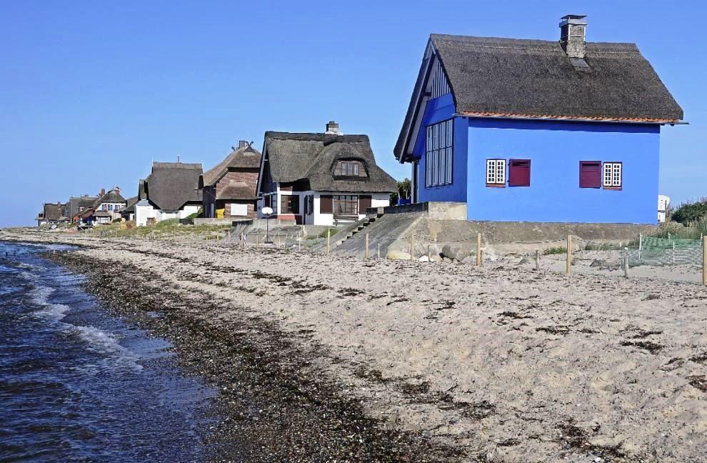 Beach houses, Graswarder, Heiligenhafen, Schleswig-Holstein, Germany