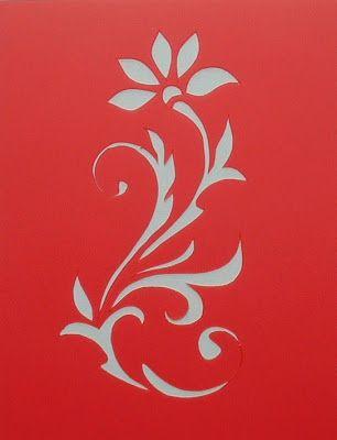 stencils pochoirs fleurs estenciles pinterest pochoir fleur pochoir et baroque. Black Bedroom Furniture Sets. Home Design Ideas
