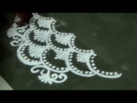 Latest rangoli design kolam design muggulu design very for Door rangoli design images