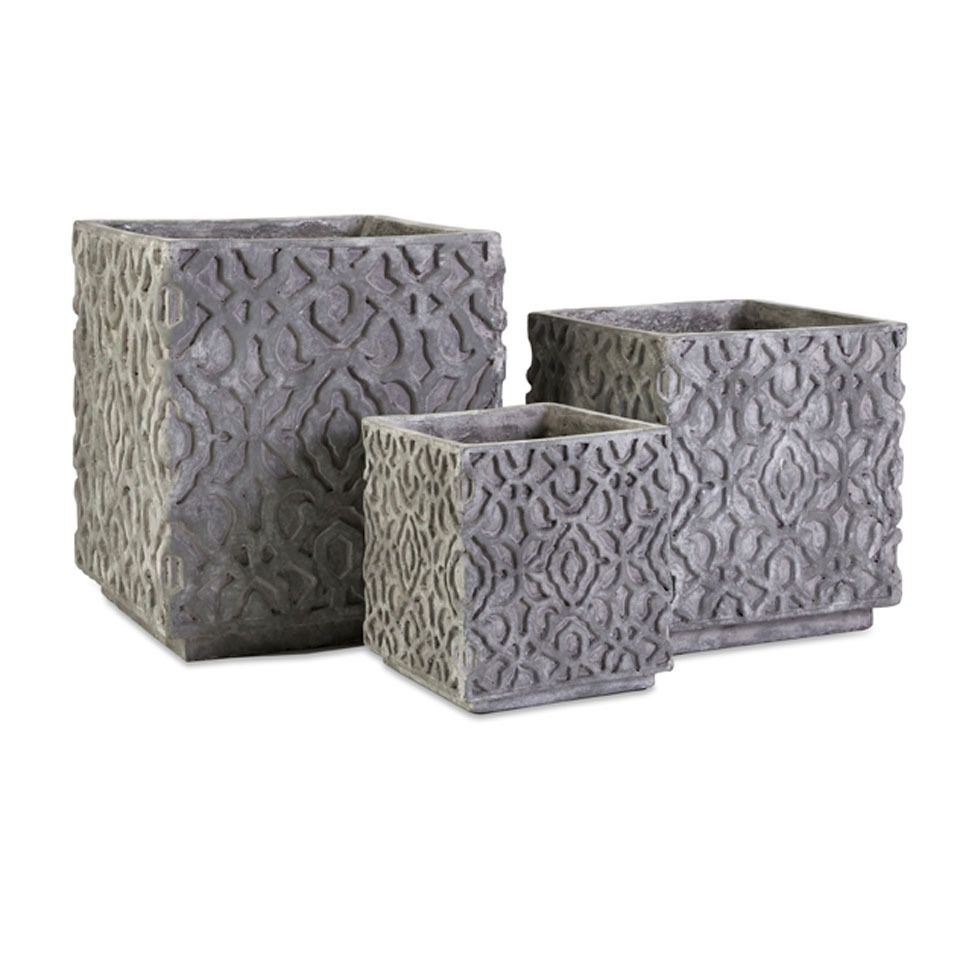 Imax Set of 3 Cement Planters - Beyond the Rack 69, for all three