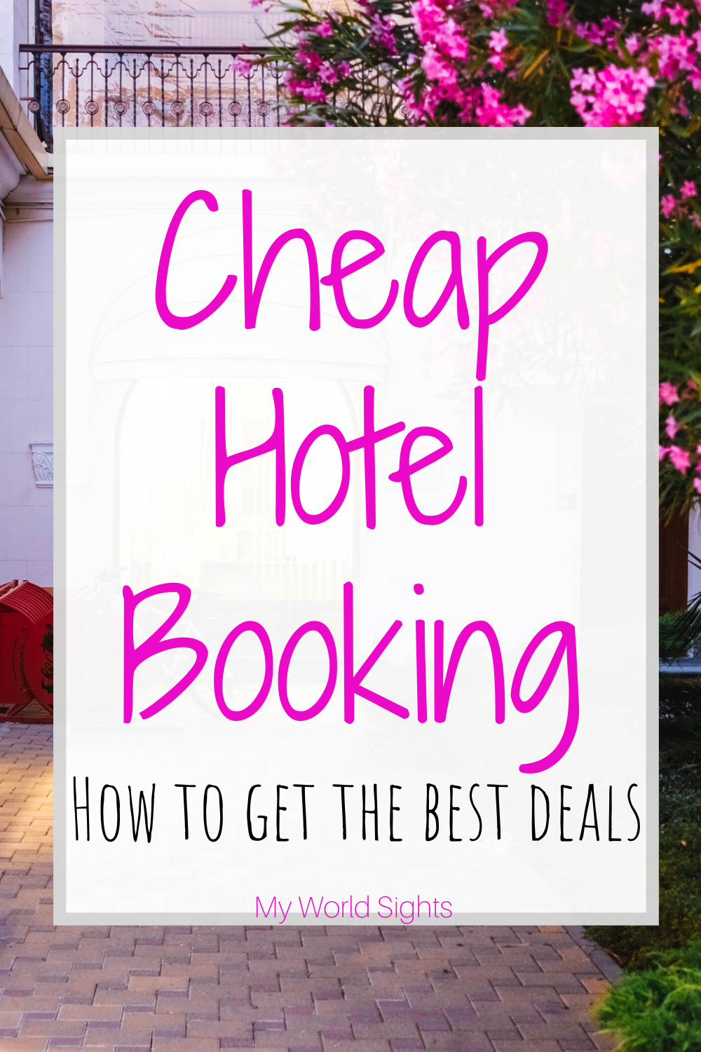 How to book cheap hotel rooms for your vacation. Budget travel tips and cheap hotel hacks. How to have an affordable vacation starting with your hotel!  #discounttravel #discounthotel #hoteldeals #hotelbooking