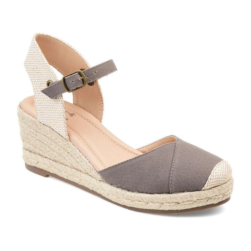 d9e8ed51eab Journee Collection Womens Ashlyn Pumps Buckle Round Toe Wedge Heel ...