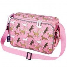 Kids Lunch Box & Bags: Horses in Pink Lunch Cooler