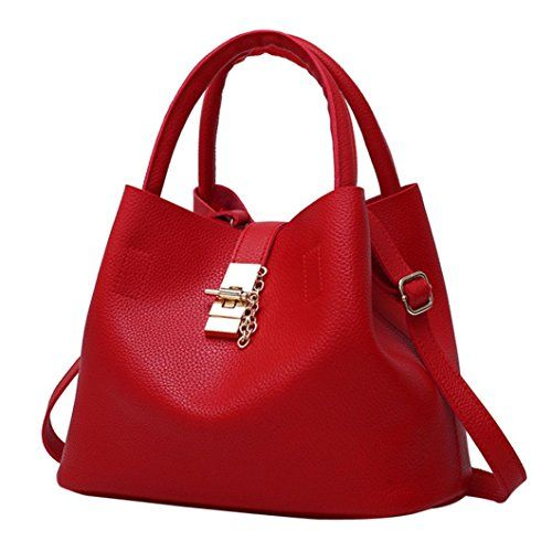 Todaies Hot Sale!2Pcs Women s Fashion Leather Shoulder Bags Buns Mother Bag  with Handbag 2018... -Women s Vintage Style Soft Leather Work Tote Large ... c63d58edca89b