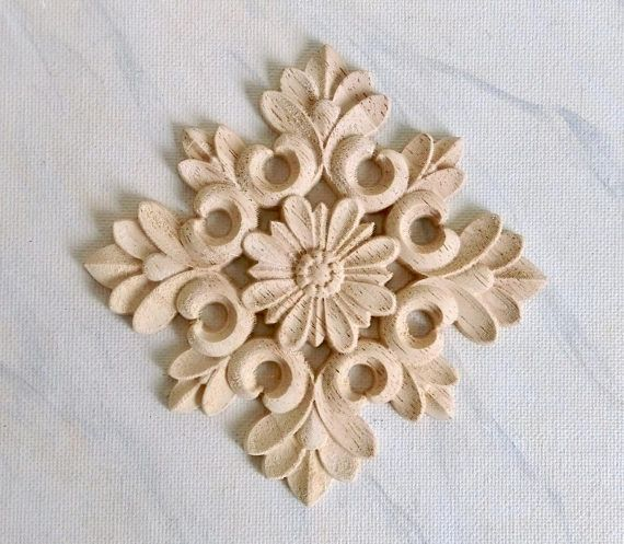 wooden appliques for furniture. Plain For Rosette Wood Applique Furniture Applique Embellishment Onlay  Decoration Carving 2 Pcs To Wooden Appliques For Furniture