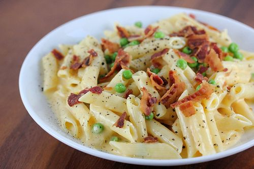 Bacon And Pea Mac And Cheese Recipe Food Recipes Cooking Mac