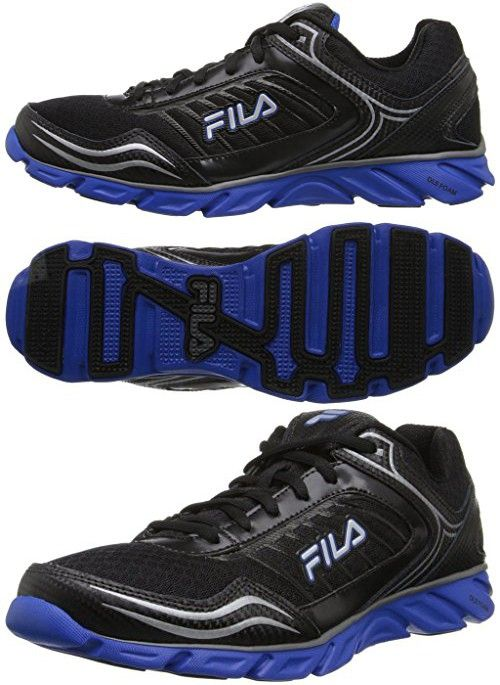 Fila Men's Memory Fresh 2 Running Shoe, BlackPrince Blue