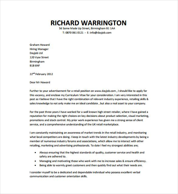 simple cover letter templates free sample example format reference - template for a cover letter