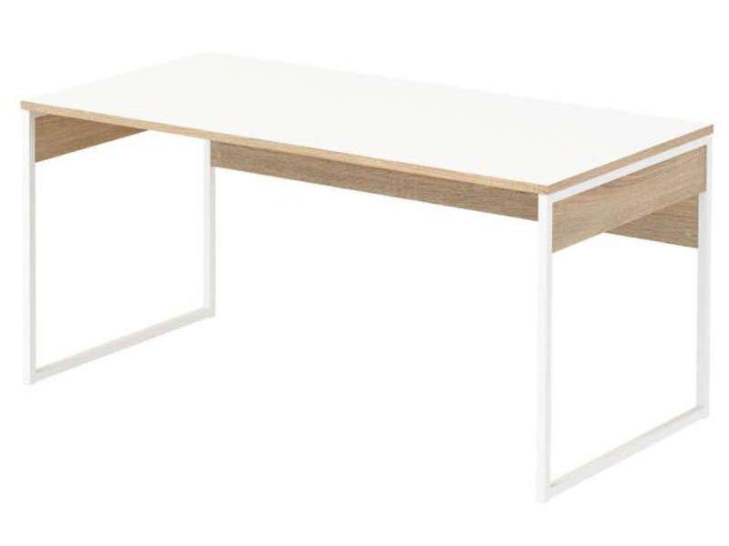 Bureau 160 cm toronto coloris blanc chêne sonoma vente de bureau