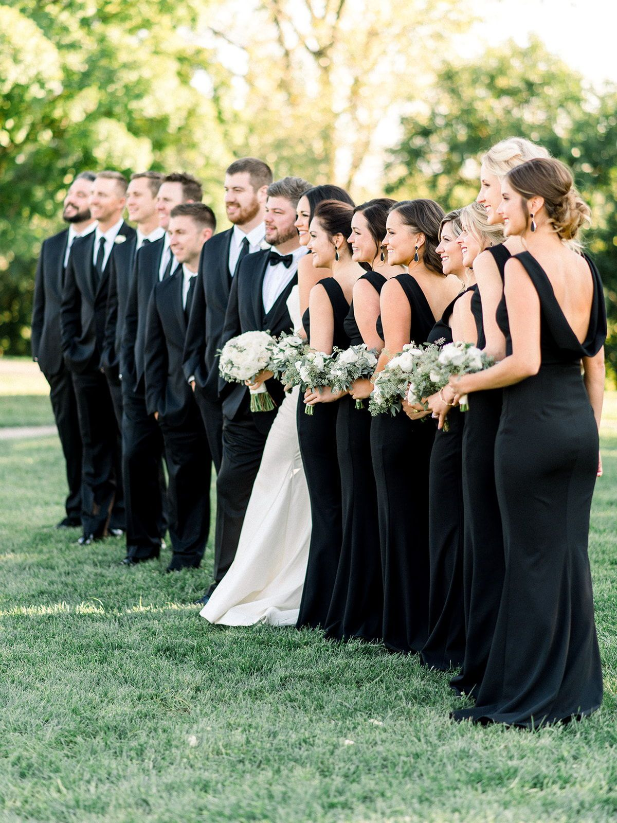 Wedding Party Photos Black And White Wedding Theme White Wedding Theme Black Bridal Parties [ 1600 x 1200 Pixel ]