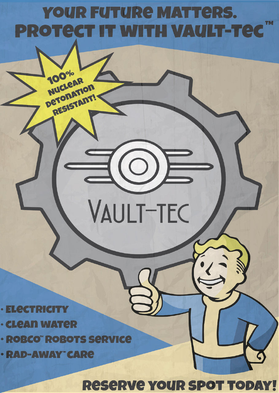 Fallout 4 Art Silk Poster 12x18 24x36 24x43