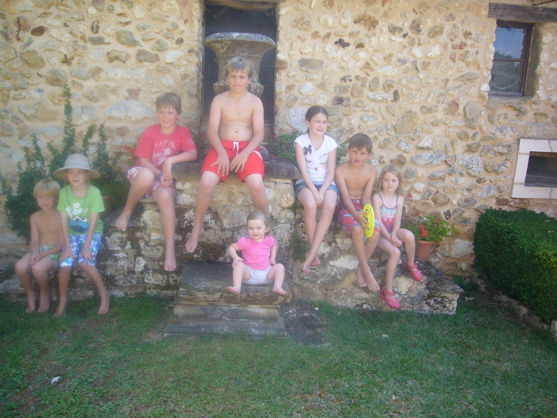 Collection of Grandchildren at Les Amandiers. Villamblard. France.