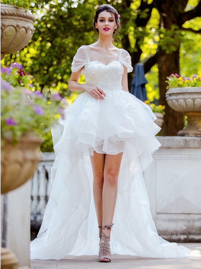 High Low Wedding Dresses Summer Wedding Gowns Wedding Dresses High Low Hi Low Wedding Dress Wedding Dresses [ 1080 x 807 Pixel ]