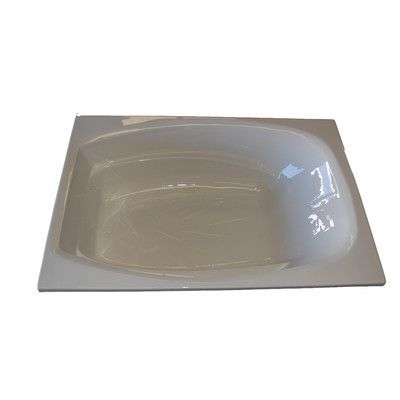 """American Acrylic 72"""" x 48"""" Salon Spa Air/Whirlpool Tub Finish: Biscuit , Drain Location: Right"""