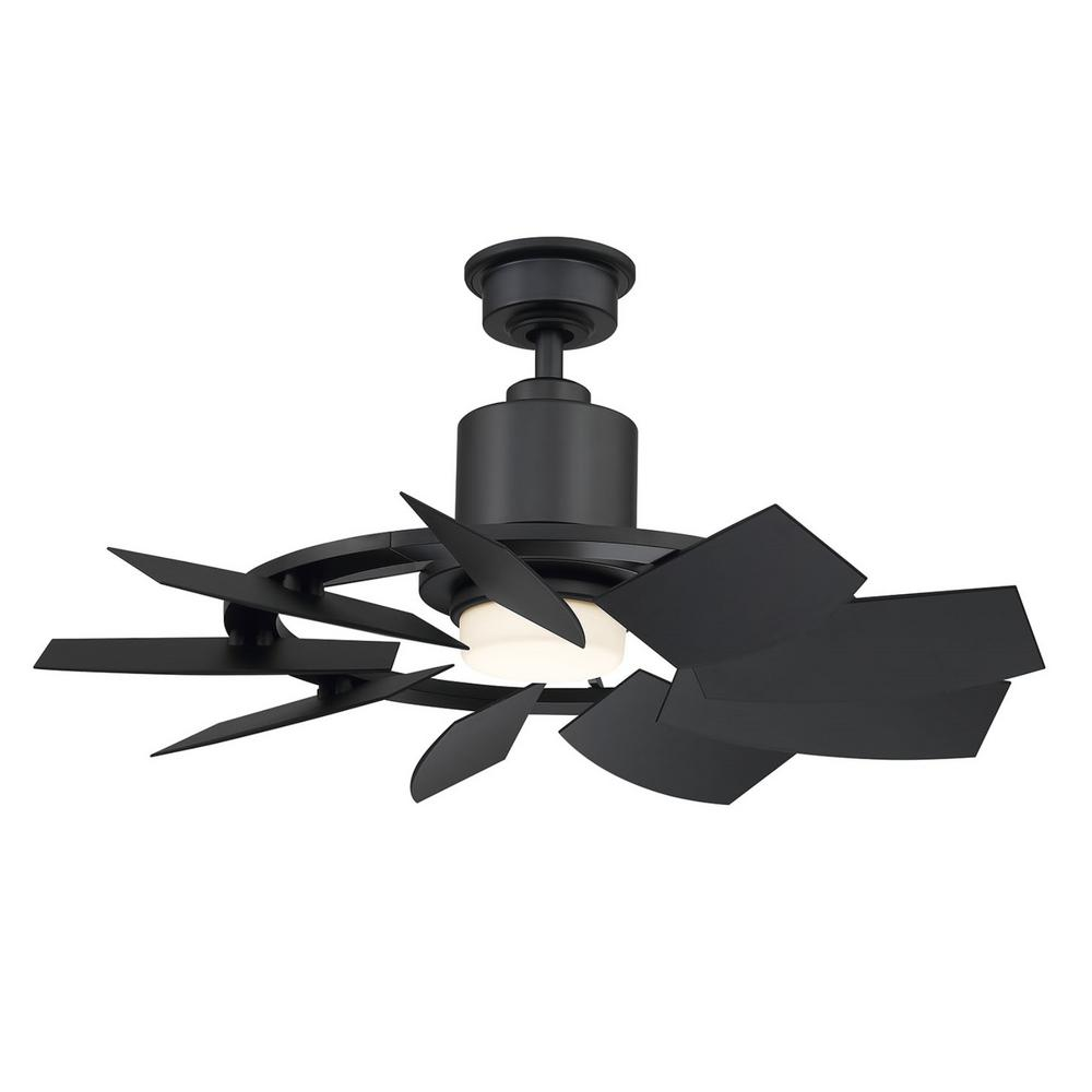 Home Decorators Collection Stonemill 36 In Led Outdoor Matte Black Ceiling Fan With Light Am689 Mbk The Black Ceiling Fan Ceiling Fan With Light Ceiling Fan