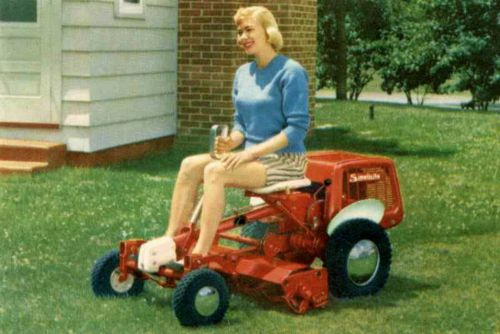 1959 Simplicity Riding Reel Mower Lol Pinterest