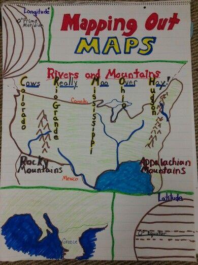 Third Grade Map Skills Social Studies Pinterest Map Skills - 4th grade map us major cities