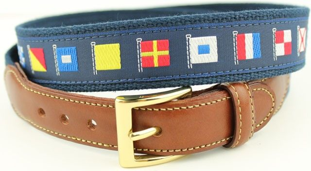 0827688efac How Do You Tie Bow Ties Leather Tab Belt in Navy on Nantucket Red Canvas -  Navy - CD12N1YHCWU in 2019