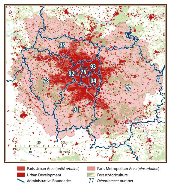 Ile de France, Paris, France: Differentiated Social Mosaic
