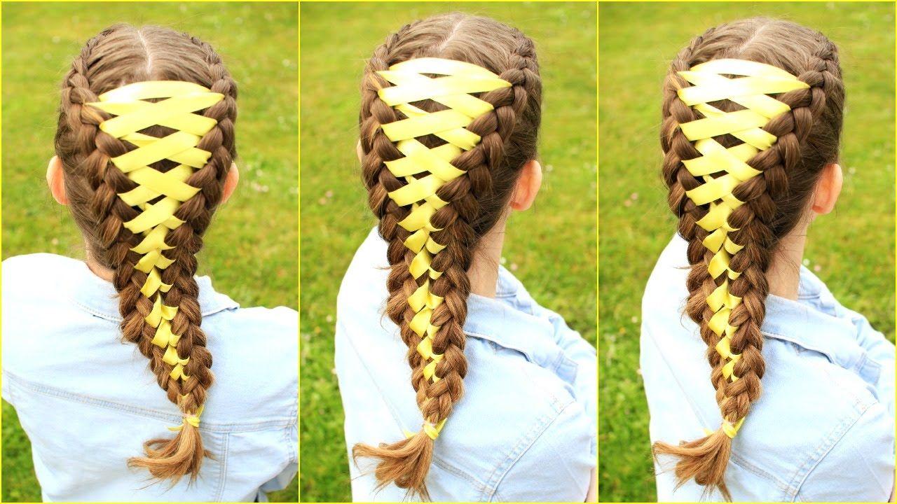 Diy Corset Braid Hair Tutorial Ribbon Braid Hair Tutorial Ribbon Braids Ribbon Hairstyle