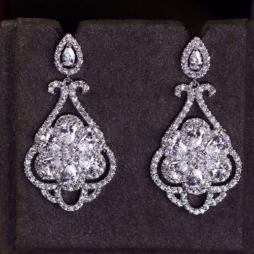 Zircon Earring JHZ-276 USD48.62, Click photo to know how to buy / Contact me for discount, follow board for more inspiration