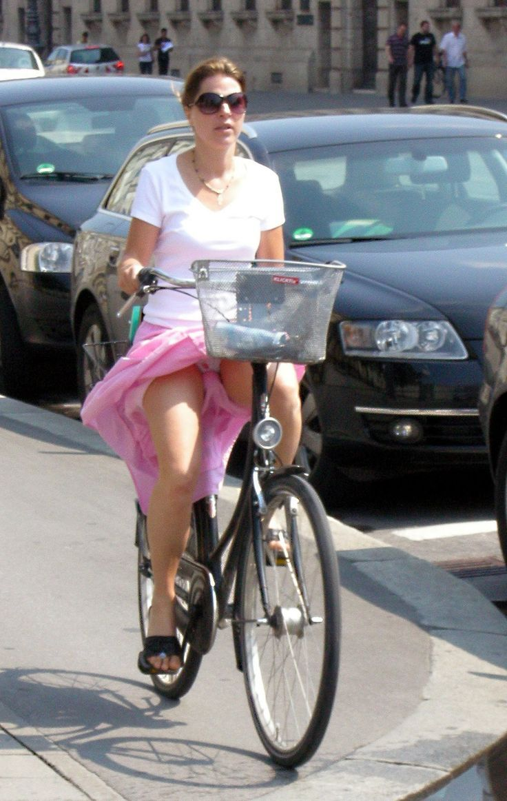 Seems Upskirt girls on bicycles sorry