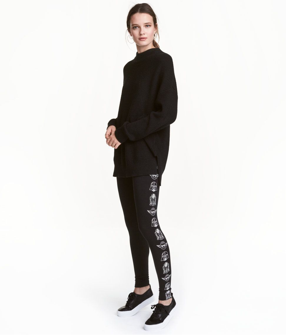 Leggings de punto | Negro/Star Wars | Mujer | H&M MX