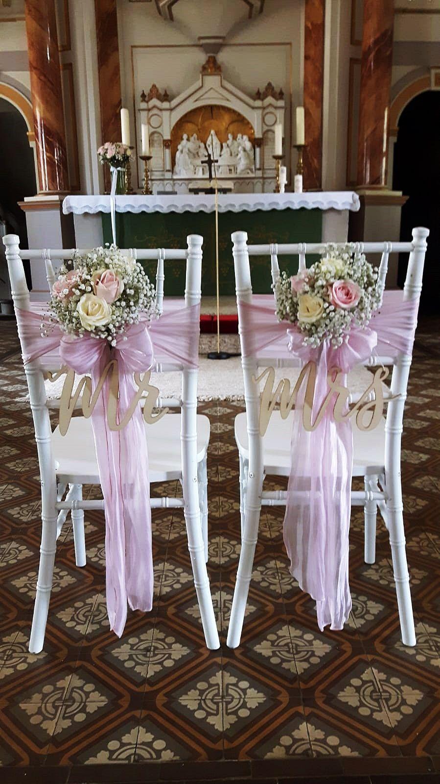 Brautstuhle Hochezeitsdekoration Mr Mrs Dekoration Stuhlschleifen Chiavaristuhle Chiavary Rosa Schlei Hochzeit Stuhle Vintage Hochzeit Deko Hochzeitsdekoration