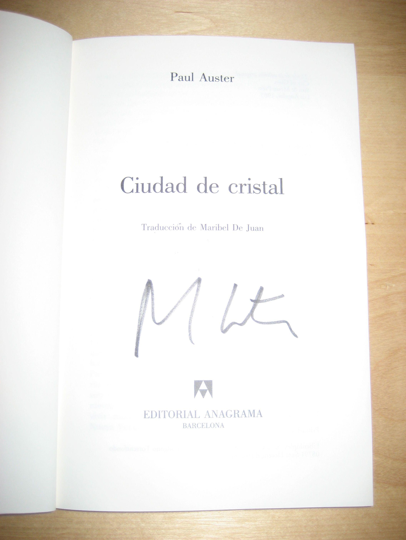 Ciudad De Cristal Firmado Por Paul Auster Auster Cristales Ciudades