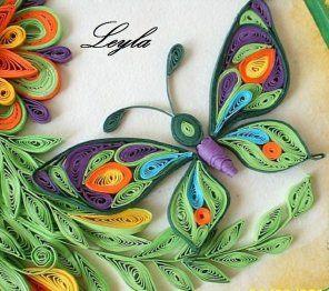 C mo hacer mariposas con t cnica de filigrana filigranas - Como hacer mariposas de papel ...