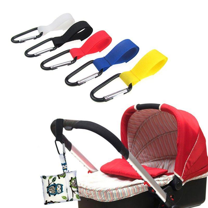 2pcs Baby Wheelchair Pram Carriage Bag Hanger Hook Clip Stroller Accessorie Set