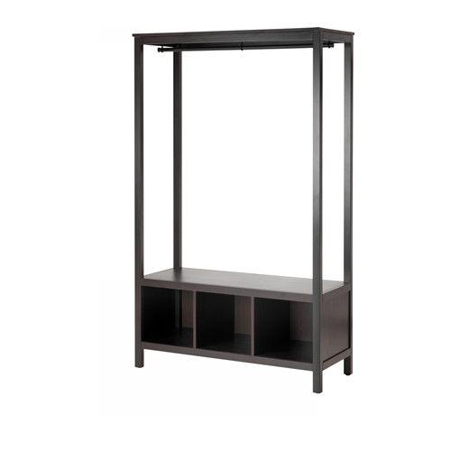 HEMNES Open Wardrobe, Black Brow, 48x78x20