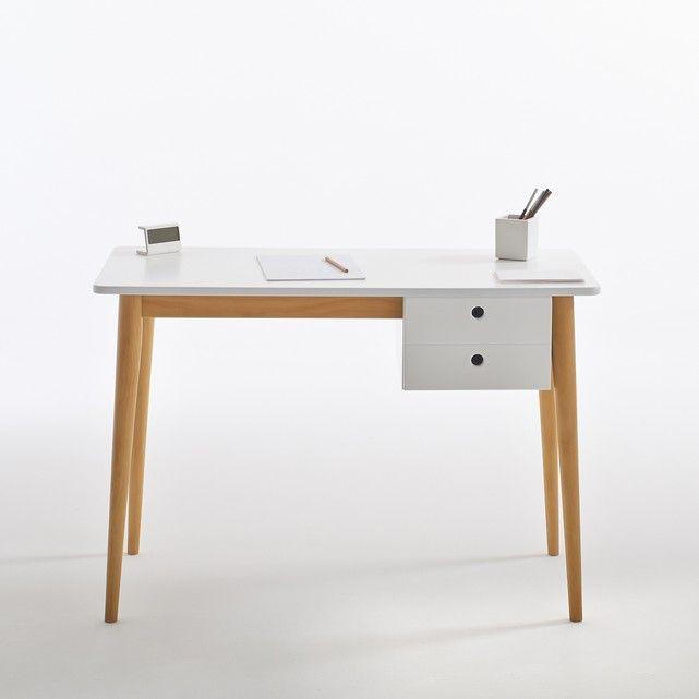 Jimi Child S Desk La Redoute Interieurs Jimi Scandinavian Style Child S Desk With Solid Pine Legs The Scandinavian Stylin Kid Desk Desk With Drawers Furniture
