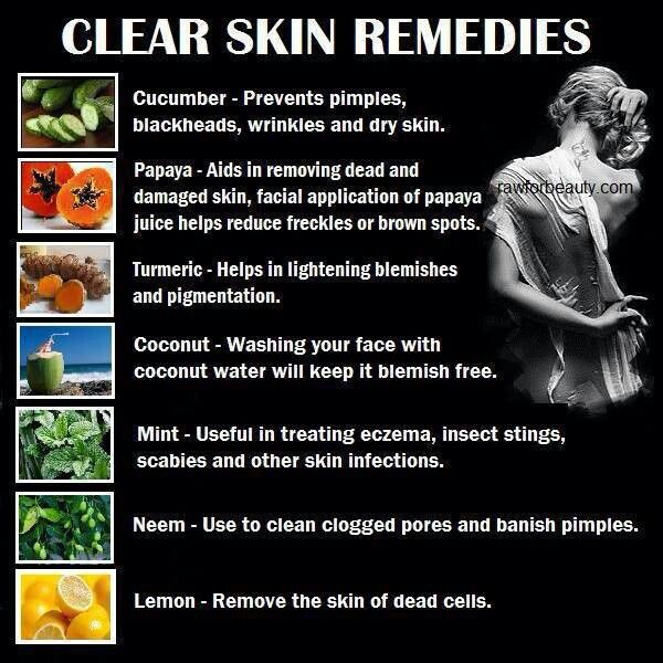 Clear skin remedies