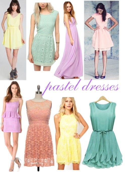 Pastel dresses the purple one on top is alla 39 s dress ch for Pastel dresses for wedding guests