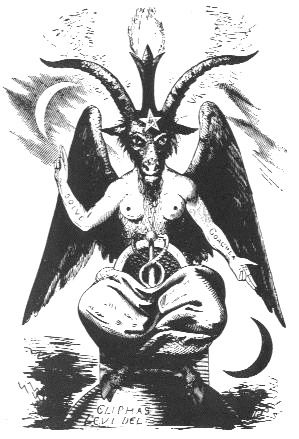 Le Baphomet d'Eliphas Lévi • Les Templiers | Symboles occultes ...