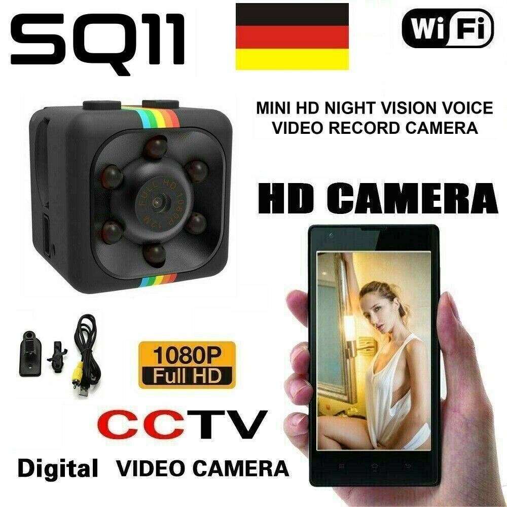 Mini Überwachungskamera Nachtsicht Bewegungsmelder Spy Cam Dash HD 1080P Camera