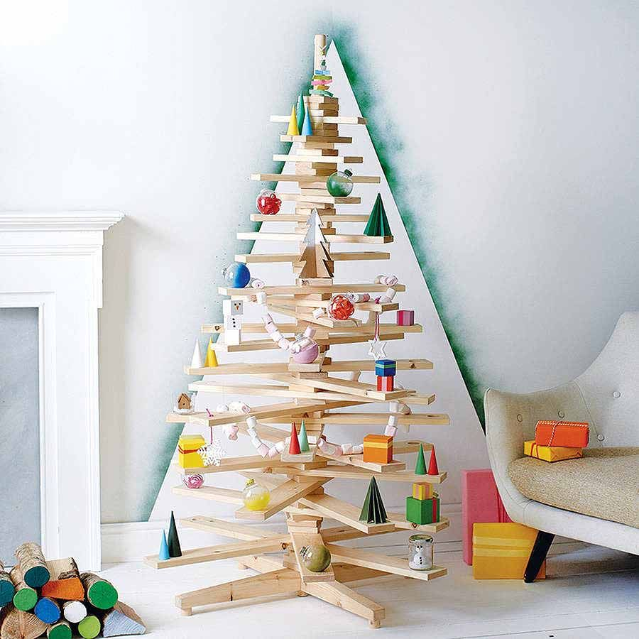 Unconventional Christmas Trees unconventional christmas tree ideas for a contemporary holiday