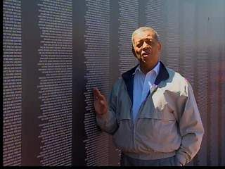 The traveling Vietnam Memorial, a replica of the permanent memorial in Washington, D.C., was in Cleveland during Marine Week, where U.S. Marines exhibit is under way showing manpower and military machinery.  #wews #leonbibb