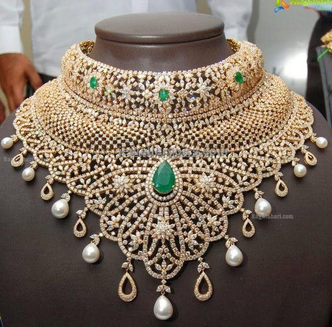 1e39f9077 Kirtilal diamond statement necklace. Bridal jewellery   Indian ...