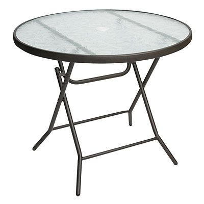 34 Round Glass Top Folding Table At Big Lots Folding Table Table Glass Top
