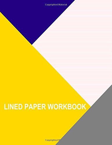 Lined Paper Workbook Pink With Wide White Lines by Thor - lined paper with picture